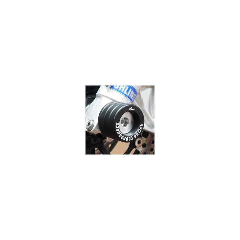 COPPIA TAMPONI PROTEZIONE FORCELLA 4-RACING PER TRIUMPH DAYTONA 675 2006/2015, STREET TRIPLE 675/R 2008/2016