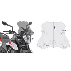 WINDSHIELD GIVI FOR KTM 390 ADVENTURE 2020, SMOKE