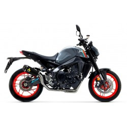 COMPLETE EXHAUST SYSTEM HIGH VERSION ARROW WITH WORKS TERMINAL IN DARK STEEL CARBON BOTTOM FOR YAMAHA MT-09 2021