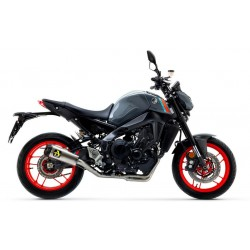COMPLETE EXHAUST SYSTEM LOW ARROW VERSION WITH WORKS TERMINAL IN TITANIUM CARBON BOTTOM FOR YAMAHA MT-09 2021
