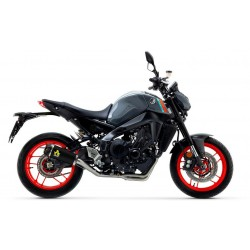 COMPLETE EXHAUST SYSTEM CATALYTIC LOW ARROW TERMINAL WORKS STEEL DARK CARBON COVER FOR YAMAHA MT-09 2021