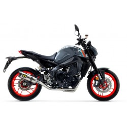 ARROW COMPLETE EXHAUST SYSTEM WITH TITANIUM THUNDER TERMINAL WITH CARBON BASE FOR YAMAHA MT-09 2021