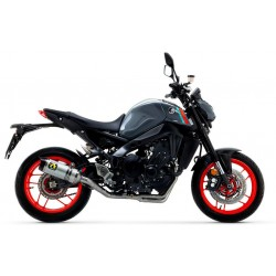 ARROW THUNDER COMPLETE EXHAUST SYSTEM IN ALUMINUM WITH CARBON BASE FOR YAMAHA MT-09 2021