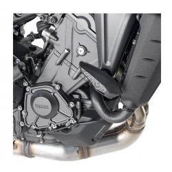 PAIR OF GIVI PADS FOR YAMAHA MT-09 2021, ALUMINUM COLOR