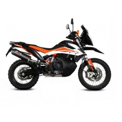 EXHAUST TERMINAL MIVV OVAL CARBON WITH CARBON BASE FOR KTM 890 ADVENTURE 2021, APPROVED