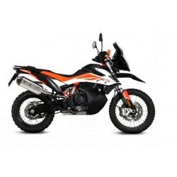 MIVV SPEED EDGE EXHAUST TERMINAL IN STEEL WITH CARBON CUP FOR KTM 890 ADVENTURE 2021, APPROVED