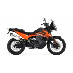 ARROW RACE-TECH ALUMINUM EXHAUST PIPE WITH CARBON BASE FOR KTM 890 ADVENTURE 2021, APPROVED