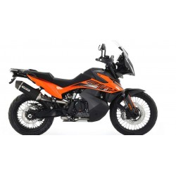 ARROW RACE-TECH EXHAUST SILENCER IN DARK ALUMINUM WITH CARBON BASE FOR KTM 890 ADVENTURE 2021, APPROVED