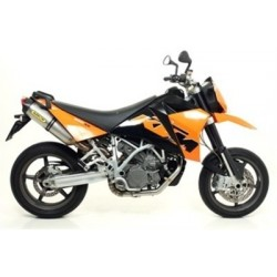 COMPLETE EXHAUST SYSTEM WITH RACE-TECH ARROW TITANIUM TERMINALS WITH CARBON BASE FOR KTM SUPERMOTO 990 2007/2011