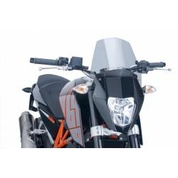 CUPOLINO PUIG SPORT NEW GENERATION PER KTM DUKE 690 R 2012/2015 COLORE FUME CHIARO