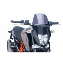 CUPOLINO PUIG SPORT NEW GENERATION PER KTM DUKE 690 R 2012/2015 COLORE FUME SCURO
