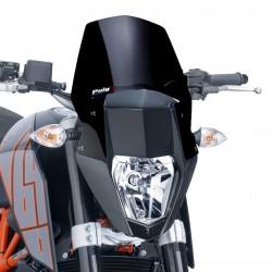 CUPOLINO PUIG SPORT NEW GENERATION PER KTM DUKE 690 R 2012/2015 COLORE NERO