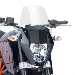 CUPOLINO PUIG SPORT NEW GENERATION PER KTM DUKE 690 R 2012/2015 COLORE TRASPARENTE