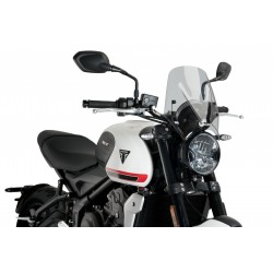 PUIG SPORT NEW GENERATION WINDSCREEN FOR TRIUMPH TRIDENT 660 2021 LIGHT SMOKE COLOR