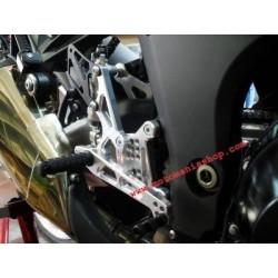 PEDANE ARRETRATE REGOLABILI 4-RACING PER KAWASAKI Z 1000 2010/2016 (cambio standard)