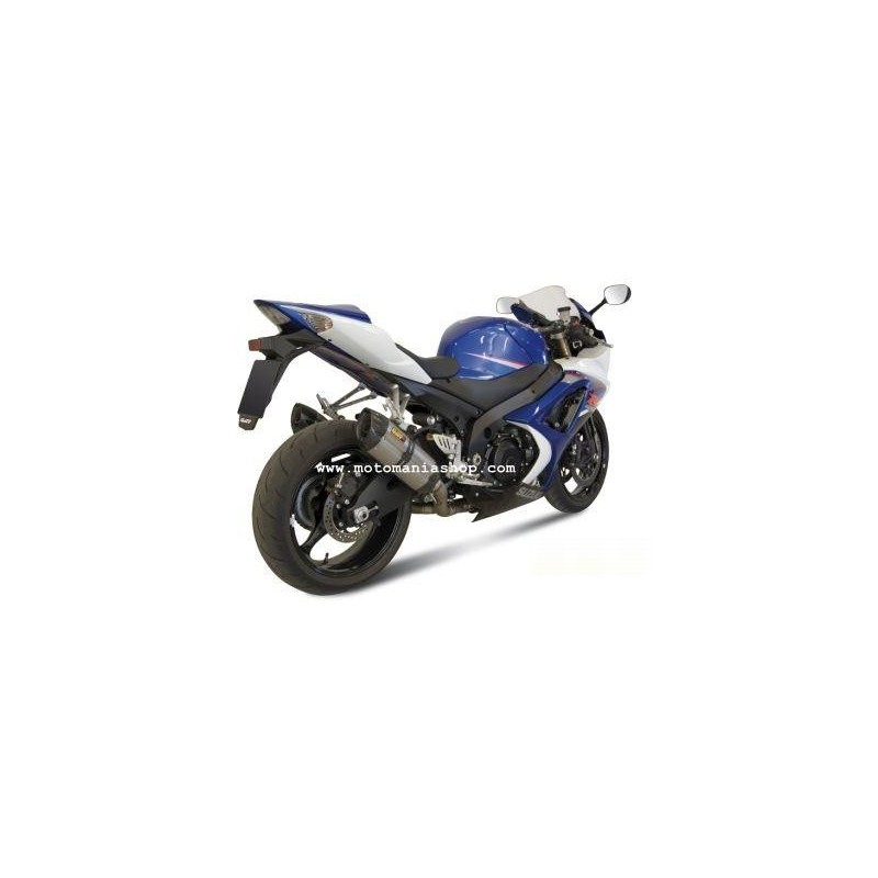 PAIR OF EXHAUST SYSTEMS MIVV SOUND IN STAINLESS STEEL FOR SUZUKI GSX-R 1000 2007/2008, APPROVED