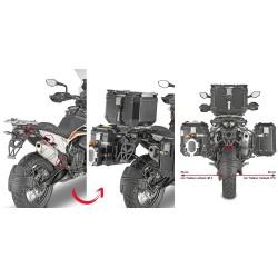 PORTAVALIGIE LATERALE GIVI PL ONE-FIT MONOKEY CAM-SIDE PER KTM 1290 SUPER ADVENTURE R 2021