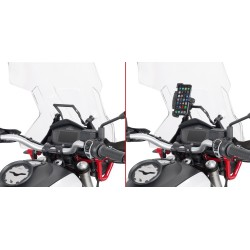TRAVERSINO IN ALLUMINIO GIVI PER MONTAGGIO SMARTPHONE PER MOTO GUZZI V85 TT 2021