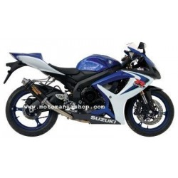 MIVV GP EXHAUST TERMINAL IN CARBON WITH HIGH PASSAGE FOR SUZUKI GSX-R 600 2006/2007, APPROVED