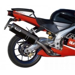 CARBON OVAL MIVV EXHAUST TERMINAL FOR APRILIA RSV 1000 1998/2003, APPROVED