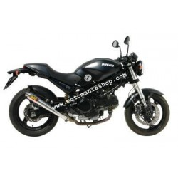PAIR OF EXHAUST MIVV X-CONE STAINLESS STEEL FOR DUCATI MONSTER 695 2006/2007, APPROVED