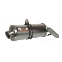 PAIR OF EXHAUST SYSTEMS MIVV OVAL CARBON FOR APRILIA TUONO 1000 R, RSV 1000 R/FACTORY, APPROVED