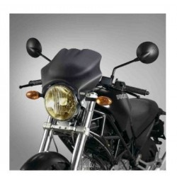 UNIVERSAL FABBRI WINDSHIELD FOR MOTORCYCLES WITH ROUND LIGHTS, DARK SMOKE