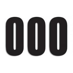 BLACKBIRD RACE NUMBERS SERIES THREE (STANDARD ADHESIVE), BLACK COLOR