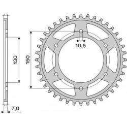 STEEL REAR SPROCKET FOR CHAIN 525 FOR HONDA TRANSALP 700 2008/2013