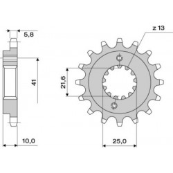 STEEL FRONT SPROCKET FOR CHAIN 520 FOR APRILIA PEGASO 650 ROAD