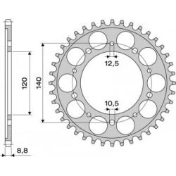 STEEL REAR SPROCKET FOR ORIGINAL CHAIN 530 FOR SUZUKI GSX-R 1000 2001/2008, SV 1000/S, BANDIT 1250/S 2007/2010, B-KING