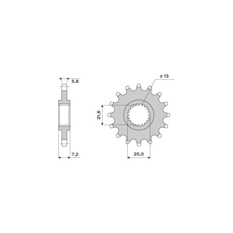 STEEL FRONT SPROCKET FOR CHAIN 520 FOR KAWASAKI ZX-6R 2007/2017