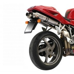 PAIR OF EXHAUST MIVV OVAL TITANIUM FOR DUCATI 748 1994/2003, APPROVED