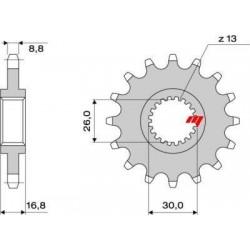 STEEL FRONT SPROCKET FOR ORIGINAL CHAIN 530 FOR HONDA HORNET 900, CBR 900 RR 1994/1995, CBR 929/954 RR 2000/2003