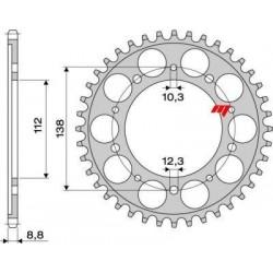 STEEL REAR SPROCKET FOR ORIGINAL CHAIN 530 FOR HONDA CBR 600 F 1995/1998, HORNET 900, CBR 900 RR 1994/1995