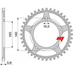 ERGAL SPROCKET FOR CHAIN 520 FOR SUZUKI GSX-R 600 2001/2010, GSX-R 750 2000/2010, GSR 600 2006/2010