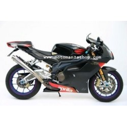 PAIR OF EXHAUST MIVV X-CONE STAINLESS STEEL FOR APRILIA TUONO 1000 R, RSV 1000 R (FACTORY), APPROVED
