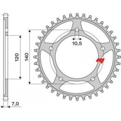 STEEL REAR SPROCKET FOR ORIGINAL CHAIN 525 FOR TRIUMPH BONNEVILLE 800