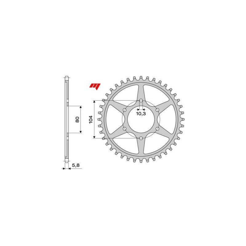 ALUMINIUM REAR SPROCKET FOR 520 CHAIN FOR KAWASAKI ZX-9R 1998/2003, ZX-10R 2004/2020