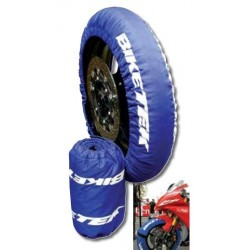 "TIRE WARMERS SET BIKETEK FOR MOTORCYCLE 250 cc, SUPERMOTARD (120 / 70-17""+ 160 / 60-17"")"
