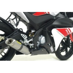 ARROW COMPLETE EXHAUST SYSTEM WITH THUNDER ALUMINUM TERMINAL WITH STAINLESS STEEL BASE FOR YAMAHA YZF-R 125 2008/2013