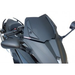 CUPOLINO GEN-X SPORT FABBRI PER YAMAHA T-MAX 530 2012/2014, NERO BISATINATO, BIANCO