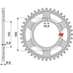 STEEL REAR SPROCKET FOR ORIGINAL CHAIN 530 FOR YAMAHA R6 2003/2005, R1 1998/2014
