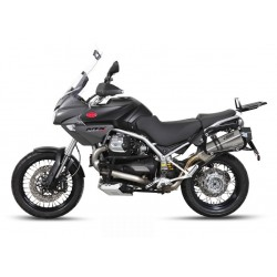 MIVV SPEED EDGE EXHAUST TERMINAL IN STAINLESS STEEL WITH CARBON BASE FOR MOTO GUZZI STELVIO, APPROVED