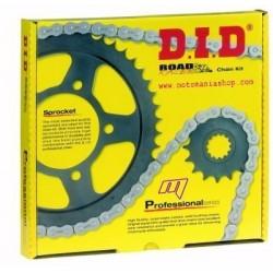 KIT TRASMISSIONE CON CATENA DID 3921 PER KTM EXC 125 ENDURO 2000/2006, EXC 250 2005/2009, RAPPORTI ORIGINALI