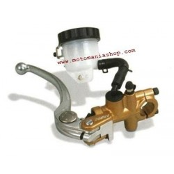 NISSIN RADIAL BRAKE PUMP D. 19x21 WITH ADJUSTABLE LEVER, OIL TANK, STOP SWITCH