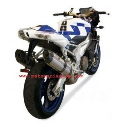 PAIR OF EXHAUST SYSTEMS MIVV SOUND IN STAINLESS STEEL FOR APRILIA TUONO 1000 2006/2010, RSV 1000 R/FACTORY 2004/2009, APPROVED