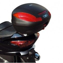 MONOLOCK BOX GIVI E470NS SIMPLY III, BLACK WITHOUT COVER WITH PLATE AND UNIVERSAL KIT