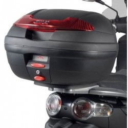 MONOLOCK CASE GIVI E340N VISION, BLACK WITH PLATE AND UNIVERSAL KIT