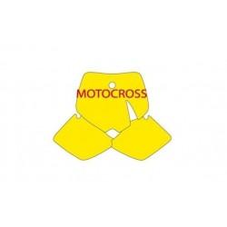KIT ADESIVI PORTANUMERO BLACKBIRD MODELLO MOTOCROSS PER KTM SX (TUTTE LE CILINDRATE TRANNE MINICROSS) 2000/2002